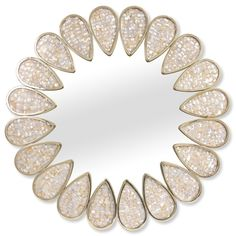 JONATHAN ADLER Petal Abalone Mirror $995 PICK UP OR SHIPS FREE * BEST PRICE GUARANTEED at AGNELLINO'S agnellinos.com