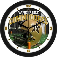 Vanderbilt Commodores NCAA Football Helmet Wall Clock