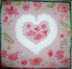 """""""Hearts Delight"""" art quilt by Jeanne Turner McBrayer"""