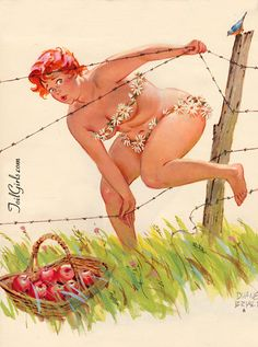 Hilda berry picking Bears hiding behind tree Duane Bryers