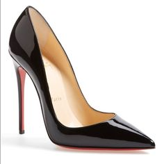 """Authentic So Kate Pumps """"SALE"""" This glossy So Kate pump boasts Christian Louboutin's finest stiletto heel, set near-vertical to dramatically shape your gait into a jaw-dropping stride. The iconic red sole—born from a brush with red nail color—pops beneath the graceful curves. 4 3/4"""" heel; 120mm pitch. Patent-leather upper/leather lining Please note that the red lacquer on the soles will wear off as a result of normal use. Worn once. Red bottoms refurbished. No dust bag or box. 100% AUTHENTIC…"""