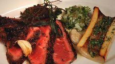 Chef Laurent Tourondel shows us how to make the popular New York steakhouse's famous côte de boeuf.