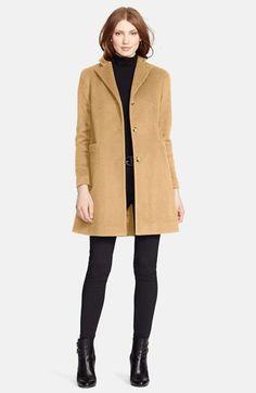 Lauren+Ralph+Lauren+Wool+Blend+Car+Coat+(Petite)+available+at+#Nordstrom