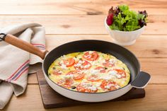 Greek Frittata with Mixed Leaves