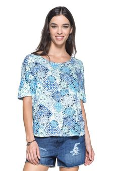 Blusa Estampa Azulejo