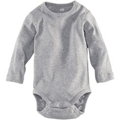 Long-sleeved bodysuit - from H&M ($6.12) ❤ liked on Polyvore featuring baby en baby clothes