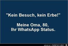 lustiges Bild 'Super WhatsApp-Status.jpg'- Eine von 21203 Dateien in der Kategorie 'klasse Sprüche und Witze' auf FUNPOT.
