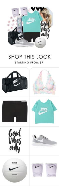 """""""Volleyball Practice"""" by mvfbff ❤ liked on Polyvore featuring NIKE and Victoria's Secret"""