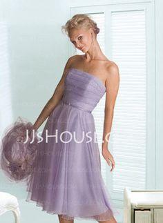 Lavender organza bridesmaid dresses