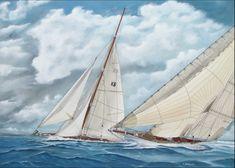 Η Χρύσα Δελλαπόρτα εκθέτει στο Ποσειδώνιο, στο πλαίσιο του Διεθνούς Αγώνα Κλασσικών Σκαφών Σπετσών Marines, Sailing Ships, Boat, Dinghy, Boats, Sailboat, Tall Ships, Ship