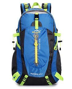Super Modern Men and Women Nylon Big Capacity Backpack Waterproof Outdoor Bag  Travel Hiking Backpack Color bbc7af7caf