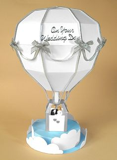 Find great deals for Card Making Templates for Hot Air Balloon & Display Box by Card Carousel. Diy Hot Air Balloons, Balloon Display, Balloon Box, Card Making Templates, Box Templates, 3d Paper Crafts, Pop Up Cards, 3d Cards, Craft Box