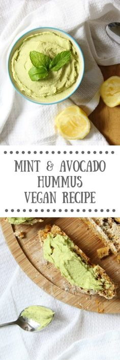 Mint & Avocado Hummus Recipe | Vegan