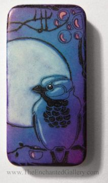 tutorial for Stazon Ink pad coloring domino bird art with Copic Ciao colorless blender 0 marker pen