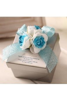 Hand-made Flower Classical Wedding Favor Boxes (12 Pieces/Set)