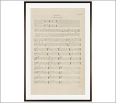 """Music Sheet Thorough Plate 3 Framed Print 