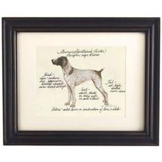 MINE!  Looks just like my baby.  German Short Hair Pointer Dog Print | Ballard Designs