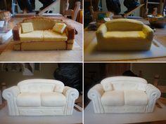 Name: Sofa-Cake. 3d Cakes, Fondant Cakes, Cupcake Cakes, Fondant Bow, Fondant Flowers, Cake Decorating Techniques, Cake Decorating Tutorials, Decorating Supplies, Cake Structure