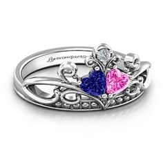 Ever Enchanted Double Heart Tiara Ring #jewlr
