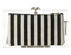 pandora clutch with stripes