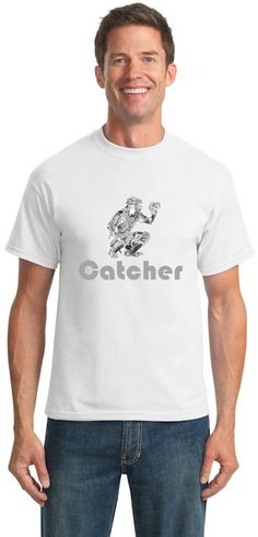 47c736607b4 Baseball Catcher T-Shirt br Choose Your Colors br Youth Med to Adult