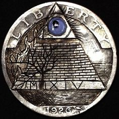 CHAD SMITH HOBO QUARTER - CRYPTIC - 1926 STANDING LIBERTY QUARTER Hobo Nickel, Old Coins, Liberty, Knight, Carving, Antiques, Jewelry, Art, World