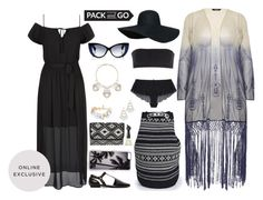 """""""✈ Pack and Go"""" by annette-heathen ❤ liked on Polyvore featuring Zero Gravity, Jonathan Saunders, Anna Sui, Grey City, Boohoo, plussize, Packandgo and oceanica"""