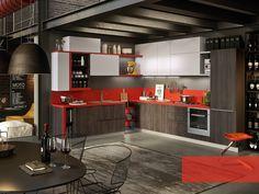 Cozinha integral com puxadores integrados STRIP - ABACO BY SNAIDERO by Snaidero design Snaidero design