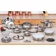 28pc 12-Element High-Quality, Heavy-Gauge Stainless Steel Cookware Set * Read more  at the image link.