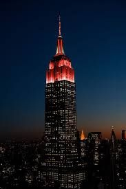 On September 2014 the Empire State Building will be lit in Philharmonic Red to celebrate the start of the season. Credit: The Empire State Building is a trademarked image and used with permission by ESRT Empire State Building, Empire State Of Mind, York University, University Of Alabama, New York City, Tower Light, Dfb Team, Monuments, City That Never Sleeps