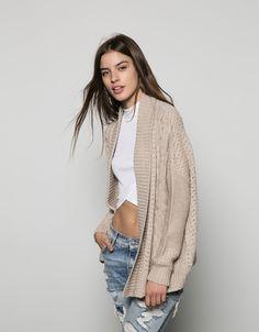 Bershka front braided jacket - New - Bershka Israel