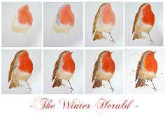 water color bird tutoria - Google Search