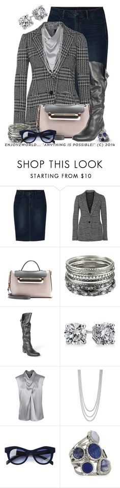 """""""""""DENIM SKIRT & KNEE BOOTS"""" Contest: Ridin'"""" by enjoyzworld ❤ liked on Polyvore featuring Uniqlo, Theory, Chloé, Accessorize, Blue Nile, Barbara Schwarzer, Betty Jackson, Italia Independent and BCBGMAXAZRIA"""