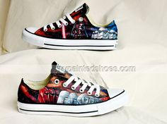 Custom Star Wars Hand Painted Shoes Custom Low-top Painted Canva