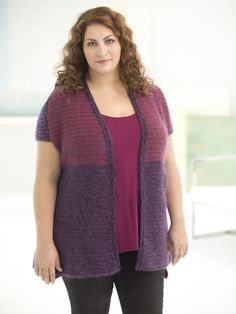 Make this chic short sleeve cardigan with our yarn of the month! Save 20% for a limited time on LB Collection yarns like Silk Mohair and Superwash Merino! Free crochet pattern is available in plus sizes, with a knit version also available! Calls for 11 - 15 balls of yarn and a size G-6 (4mm) crochet hook.
