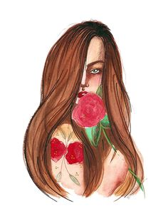 Illustration by Lidiane Dutra #illustration #drawing #girl #portrait #watercolor #painting #art