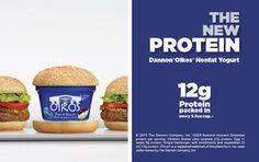yogurt greco per luomo , enfasi sul contenuto di proteine