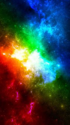 Looks like the rainbow had a explosion in outer-space and made a tie doe form too kind of