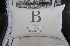 Personalized Wedding Gift Pillow Cover  12 x by SpoolsAndBobbins, $28.00
