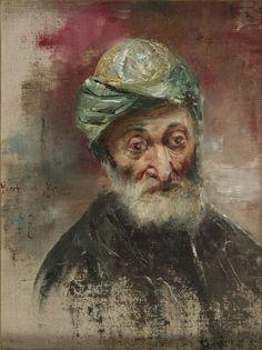 Stanisław Kaczor-Batowski - Portret starca w turbanie, 1897 r.