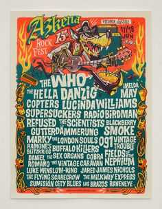 AZKENA ROCK FESTIVAL XV (2016)_ poster y ARF pack ( camiseta, chapas, parches, pegatinas)