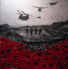 Remembered, By Day & By Night By Jacqueline Hurley Military War Remembrance Artist