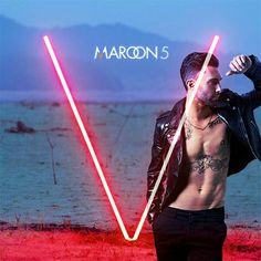 Is the V for Adam's v-line? Good golly! Maroon 5 #AdamLevine #Sexy