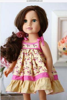 London Doll Dress and Top American Doll Clothes, Girl Doll Clothes, Girl Dolls, Dolls Dolls, Baby Dolls, Doll Dress Patterns, Doll Sewing Patterns, Pdf Patterns, Clothing Patterns