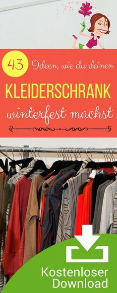 Ideen für den Kleiderschrank. Checkliste Garderobe herbst- und winterfest machen