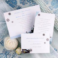 simple winter wedding invitations