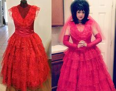 Lydia Red Wedding Dress Beetlejuice by TracyMichelleCouture, $550.00