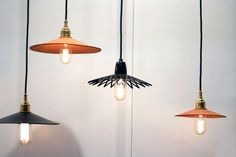 Hide Leather Lights — AN/AESTHETIC - Contemporary furniture and homewares.