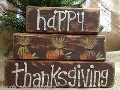 Primitive Thanksgiving decorations   Primitive Fall Harvest Happy Thanksgiving ...   PRIMITIVE IDEAS