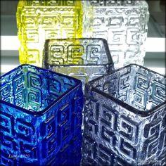 Glass Vessel, Glass Ceramic, Glass Art, Vintage Vases, Retro Vintage, Retro Design, Design Art, Glass Collection, Bottle Art